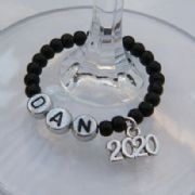 2020 Personalised Wine Glass Charm - Full Bead Style